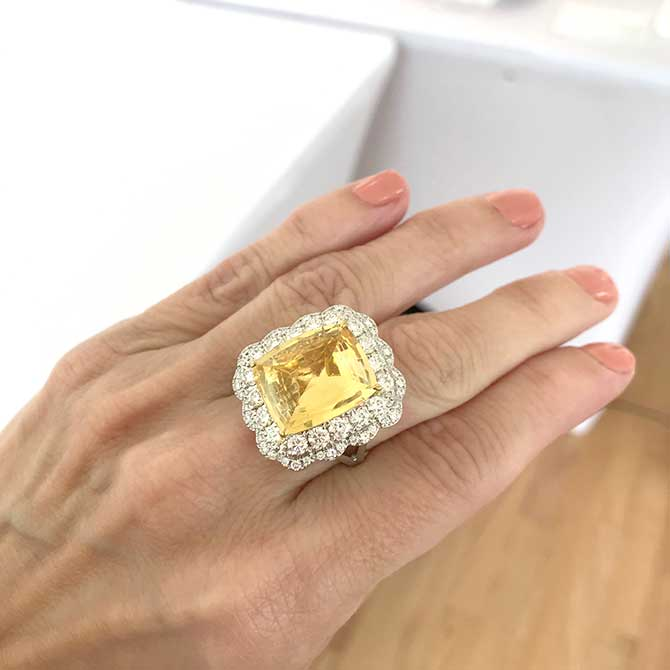 Color Source Gems yellow sapphire ring