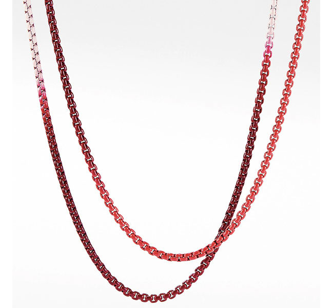 David Yurman red ombre chain