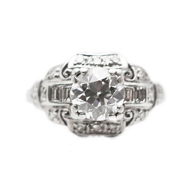 Dianne Mink antique engagement ring