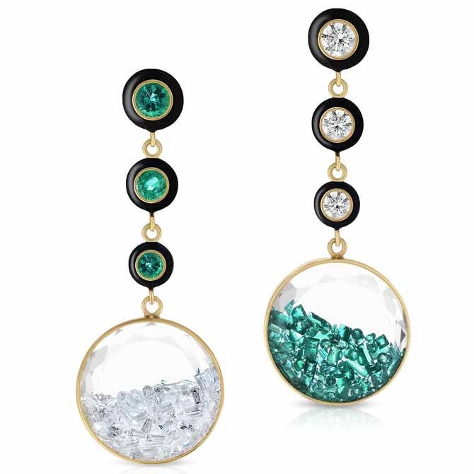 Moritz Glik mismatched Apollo earrings