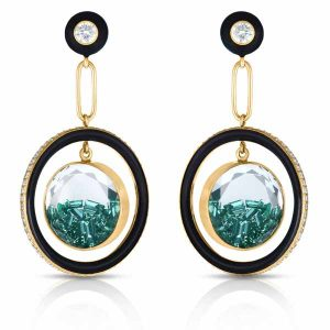 Moritz Glik Apollo emerald earrings