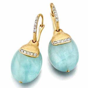 Nanis Dancing in the Rain aquamarine earrings