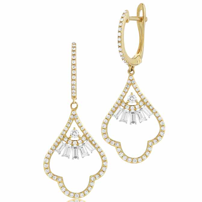 Royal Jewelry diamond drop earrings