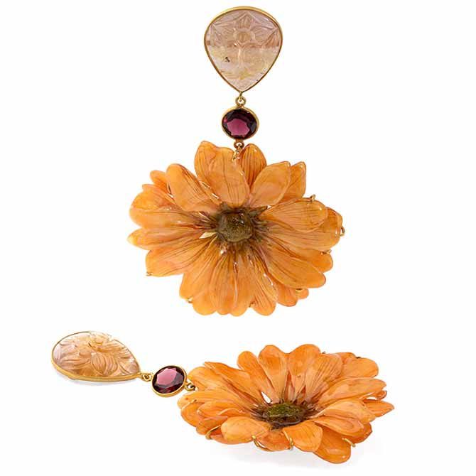 Bahina real daisy earrings