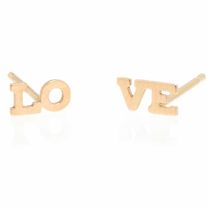 Zoe Chicco Itty Bitty love stud earrings