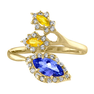 Eden Presley tanzanite sapphire ring