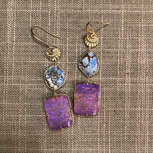Elisabeth Bell purple opal earrings