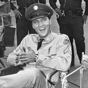 Elvis wearing Hamilton ventura watch