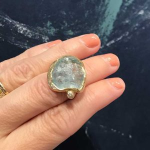 Emilie Shapiro aquamarine ring