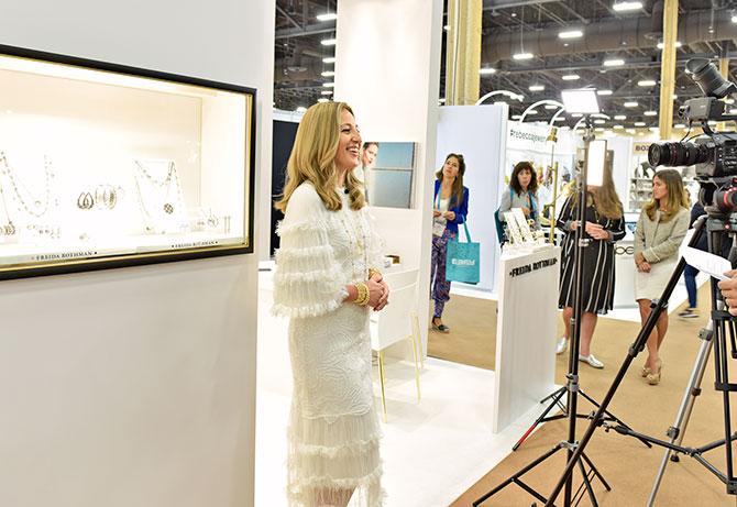 Freida Rothman at JCK Las Vegas 2018
