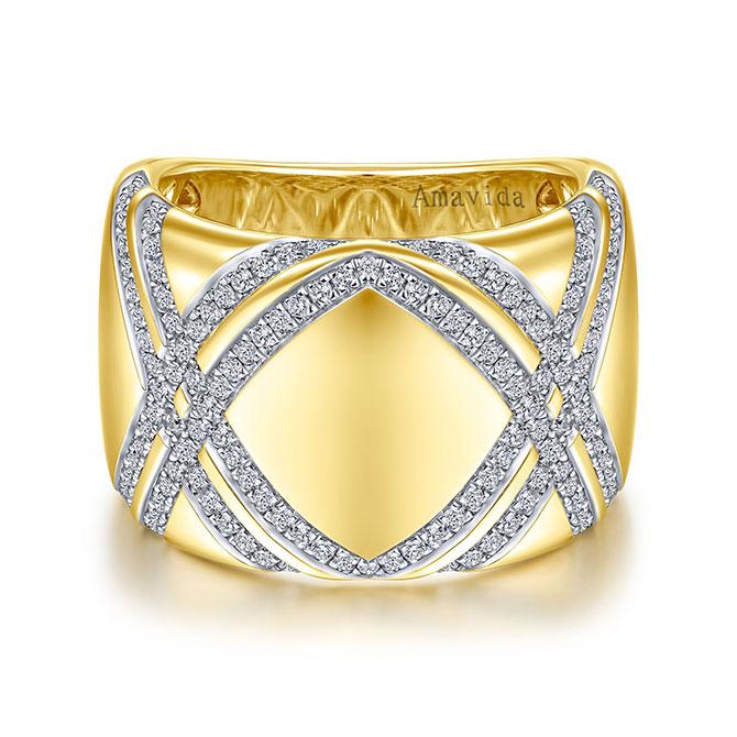 Gabriel and Co. Amavida swirl diamond ring