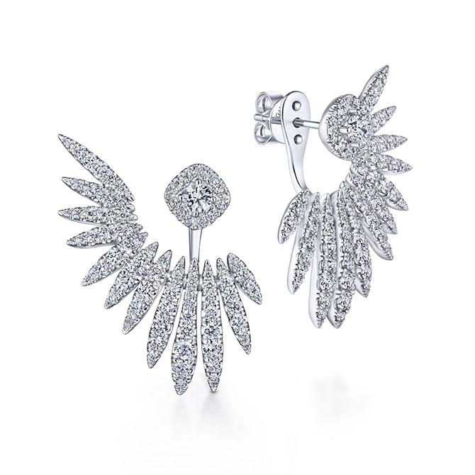 Gabriel and Co. peek a boo earrings