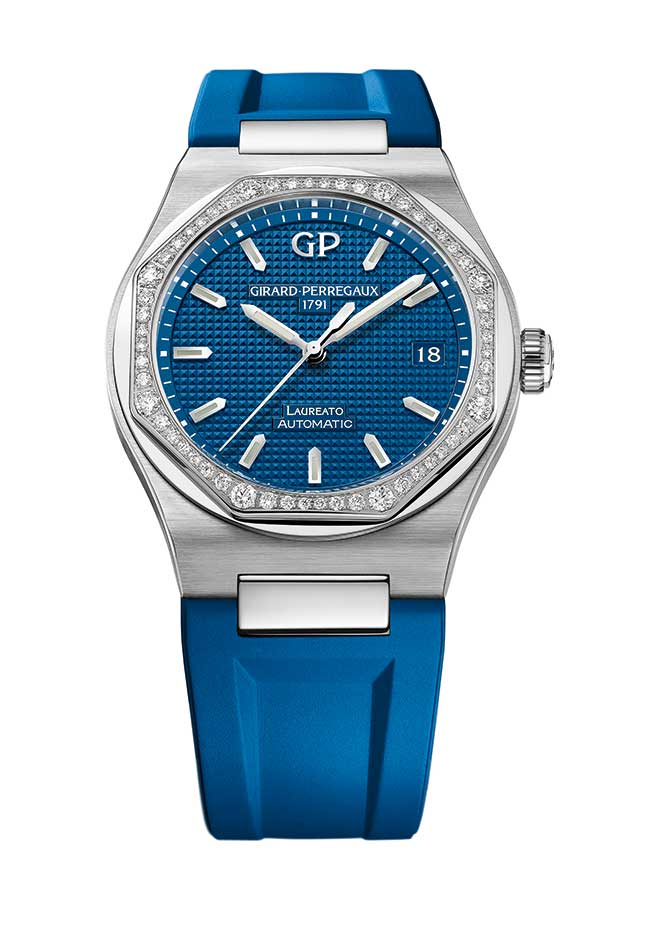 Girard Perregaux Laureato deep blue strap