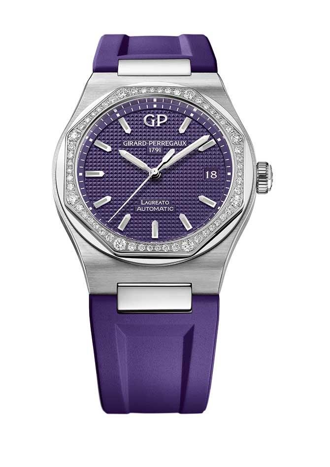 Girard Perregaux Laureato purple strap