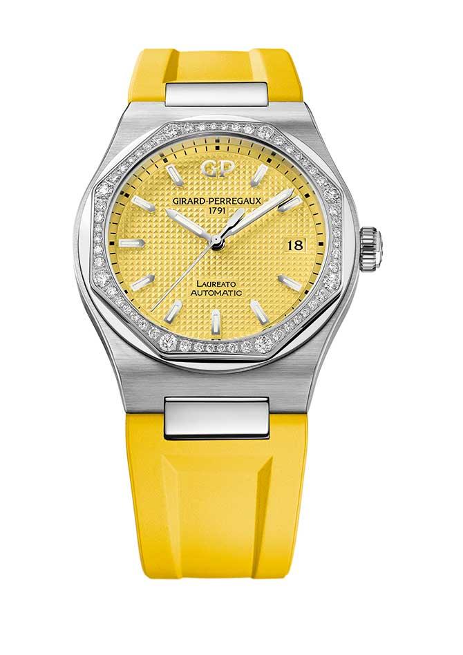 Girard Perregaux Laureato yellow strap