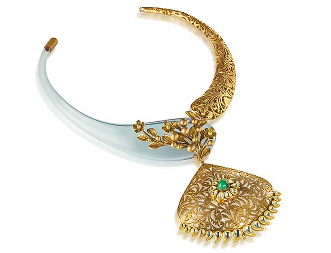 Italian blown glass and gold jewelry by Anand Shah