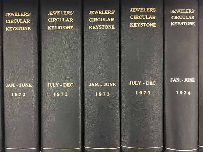 Bound volumes of JCK issues from 1972 to 1974