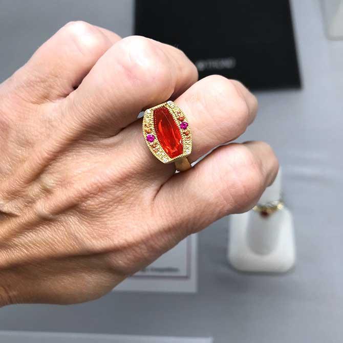 Jennifer Dawes fire opal ring