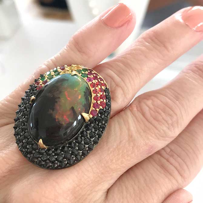 John Meier Fine Jewelry opal ring