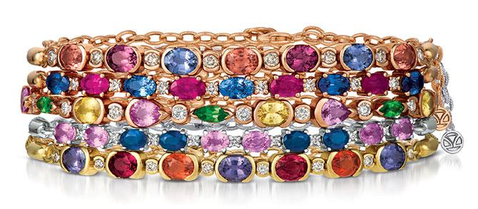 Le Vian bolo bracelet stack