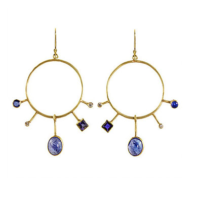 Margery Hirschey blues orbit earrings