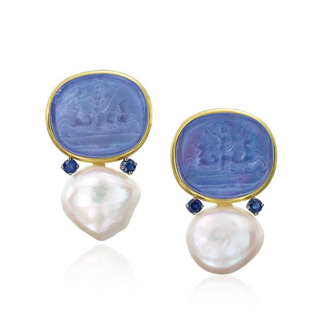 Mazza venetian glass earrings