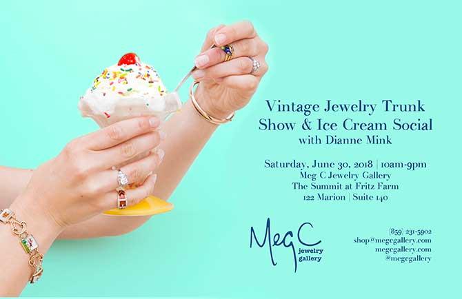 Meg C Gallery Ice cream social flyer