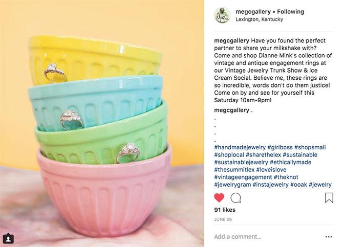 Meg C gallery instagram post