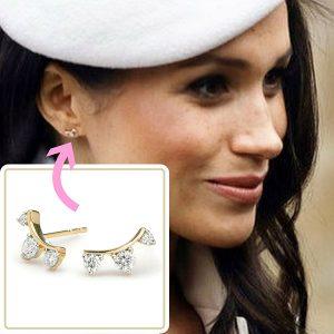 Meghan Markle in Adina Reyter earrings