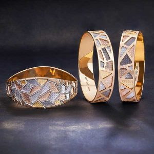 Mosaic collection of bangles by Oro