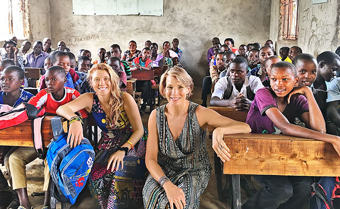 Nancy Orem Lyman at Graca Machel Trust in Tanzania