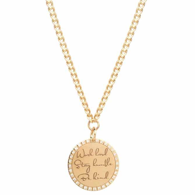 Zoe Chicco Mantra Stay Humble necklace
