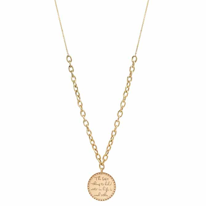 Zoe Chicco Mantra The Best Thing necklace