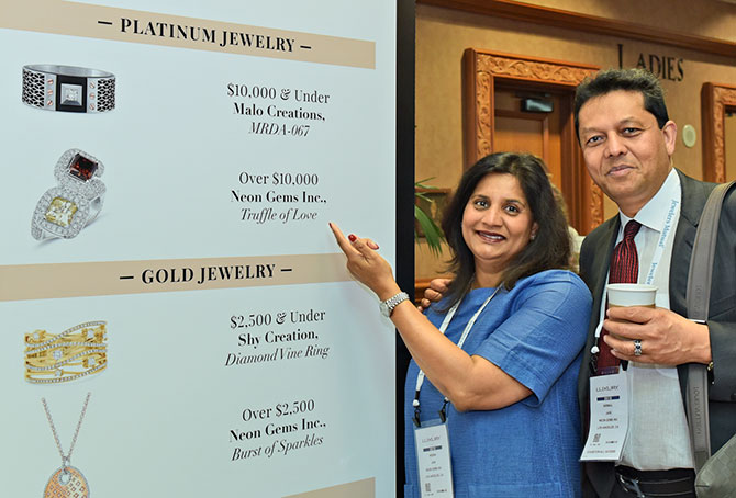 Neena Jain Nirmal Jain at JCK Las Vegas 2018
