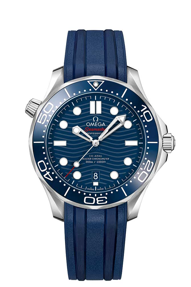 Omega Seamaster Diver 300M with rubber strap