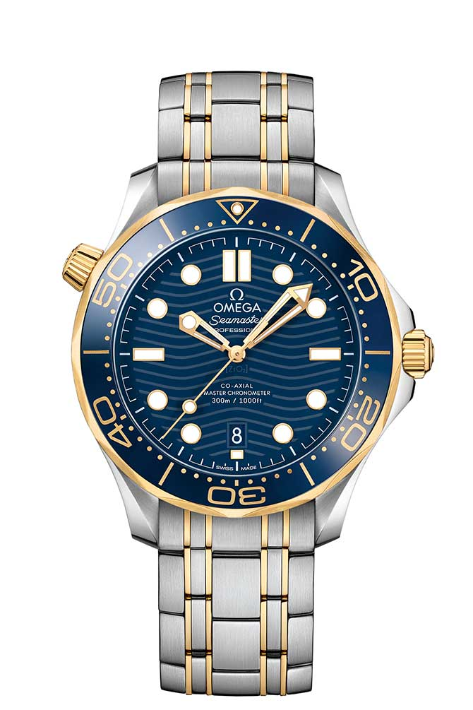 Omega Seasmaster Diver 300 in stainless steel and gold
