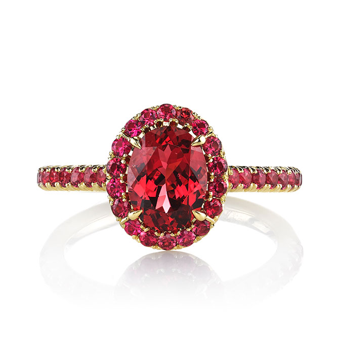 Omi Prive oval red spinel ring