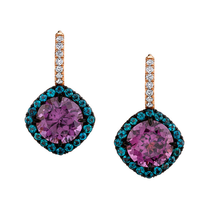 Omi Prive purple spinel earrings