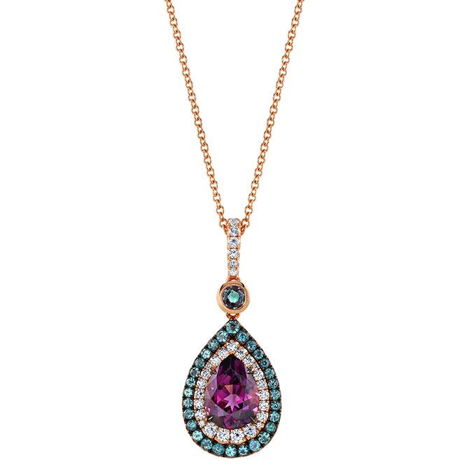 Omi Prive purple spinel pendant