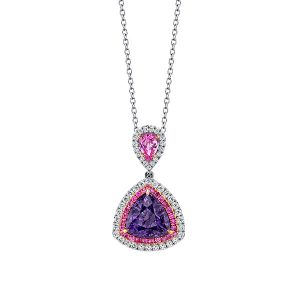 Omi Prive pink and purple spinel pendant