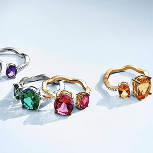 Paige Novick for Atelier Swarovski rings
