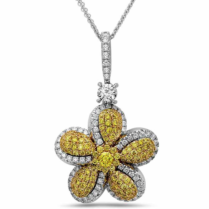 De Hago diamond flower necklace