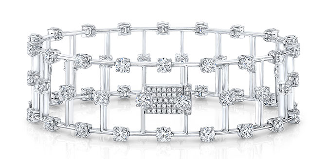 Rahaminov diamond bar bracelet