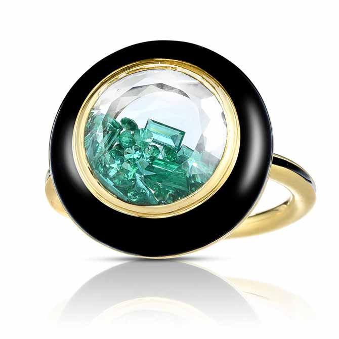 Moritz Glik Apollo emerald ring