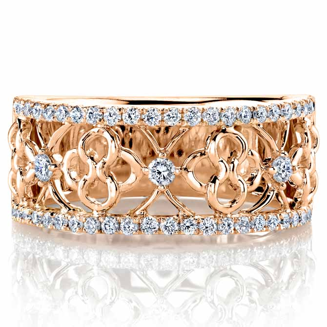 Parade openwork diamond ring