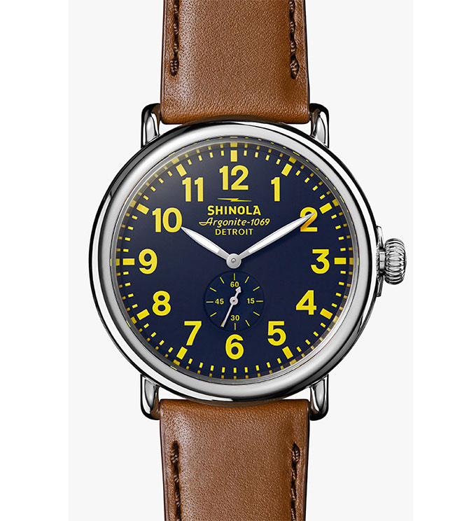 Shinola runwell blue dial