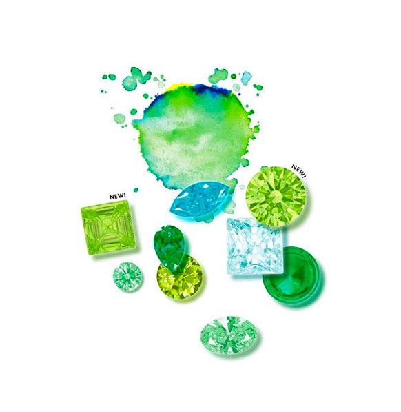 Swarovski Gem Visions green gems