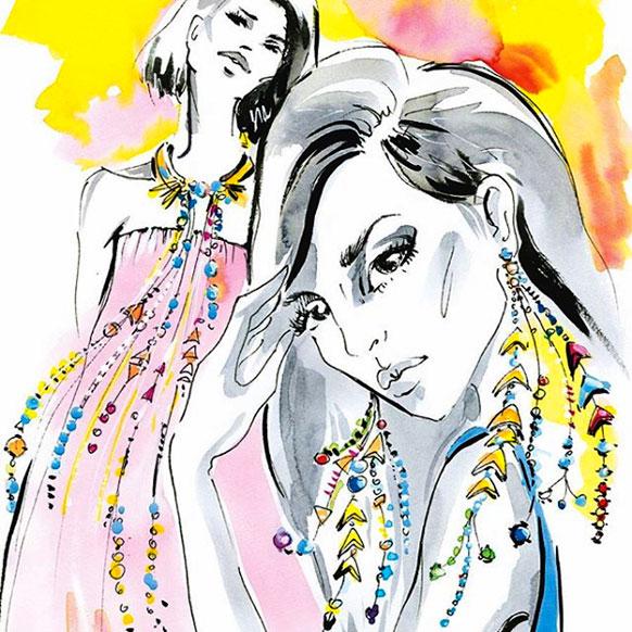 Swarovski Gem Visions illo by elena ciuprina