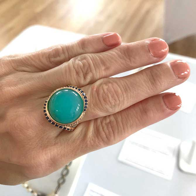 Sydney Strong cabochon opal ring
