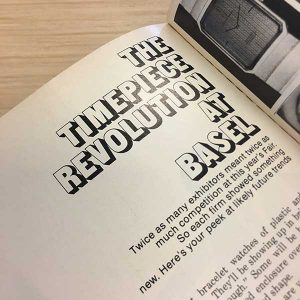 The Timepiece Revolution at Basel article from JCK May 1973